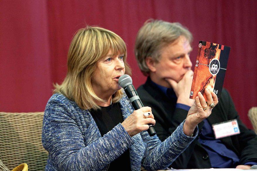 Kirjailija Eeva Park ja kääntäjä Hannu Oittinen