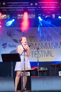 Lavalla jazzlaulajatar Kadri Voorand