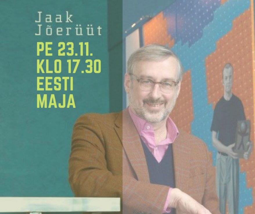 Kirjailijatapaamisessa Jaak Jõerüüt